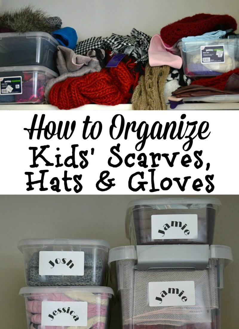 Kids Organization Ideas For Hats Gloves And Scarves With Images