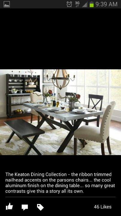 Art Van Keaton Dining Collection Dining Table In Living Room