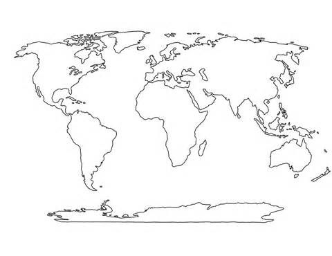 Blank World Maps Printable World Map Printable World Map Stencil World Map Coloring Page