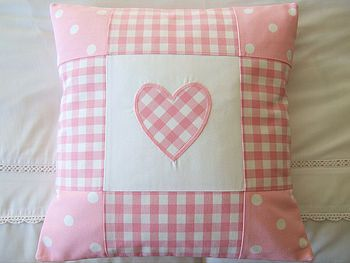 Check out this pretty patchwork pillow