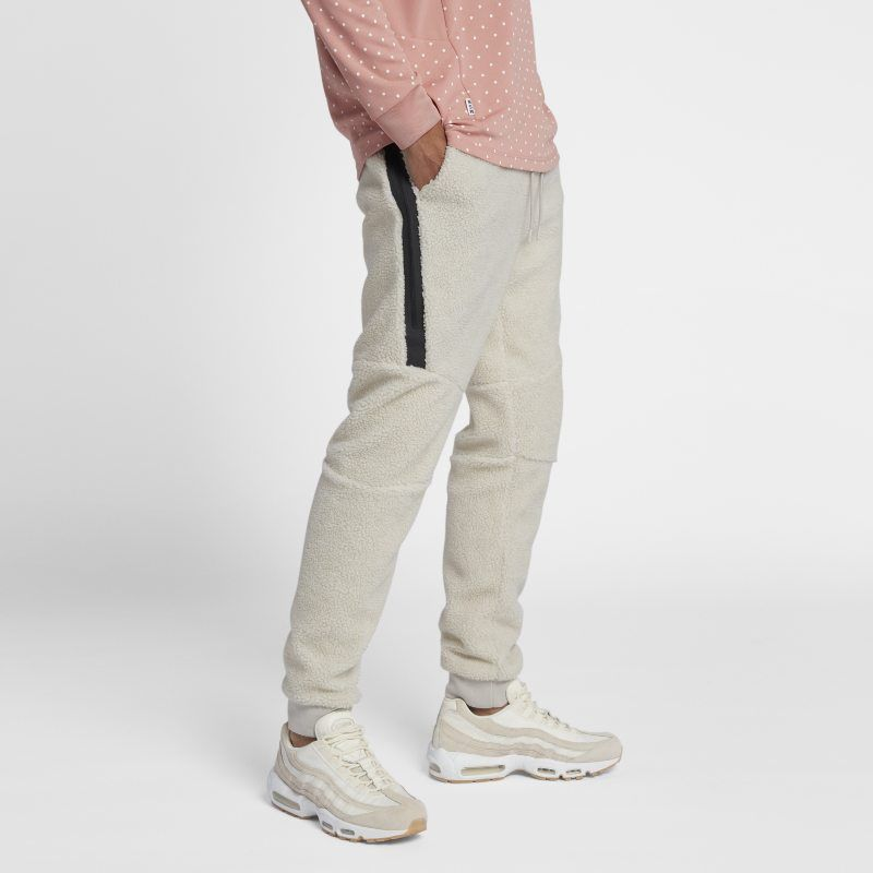 8bb3ae7c0bd51e Nike Sportswear Tech Fleece Icon Men s Sherpa Joggers - Cream ...