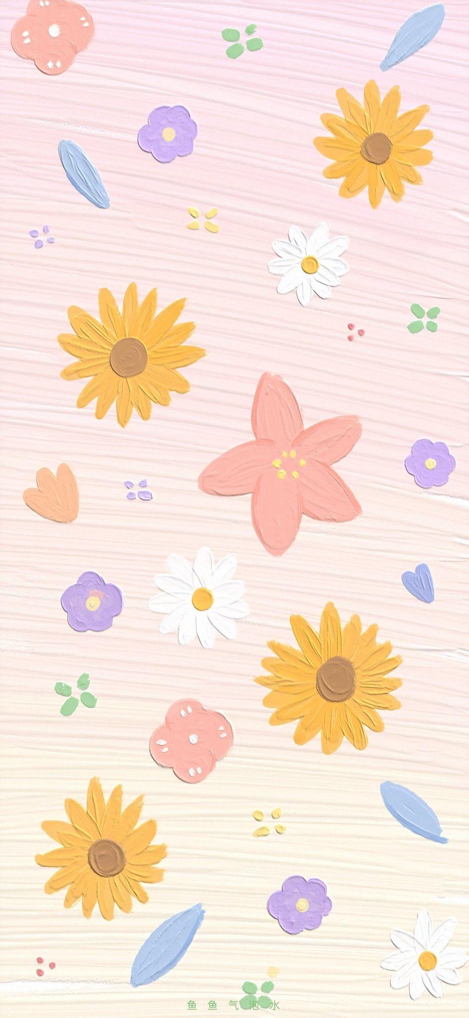 Pin Oleh Parvana Di Hd Cute Wallpaper Kartun Seni Abstrak Poster Bunga