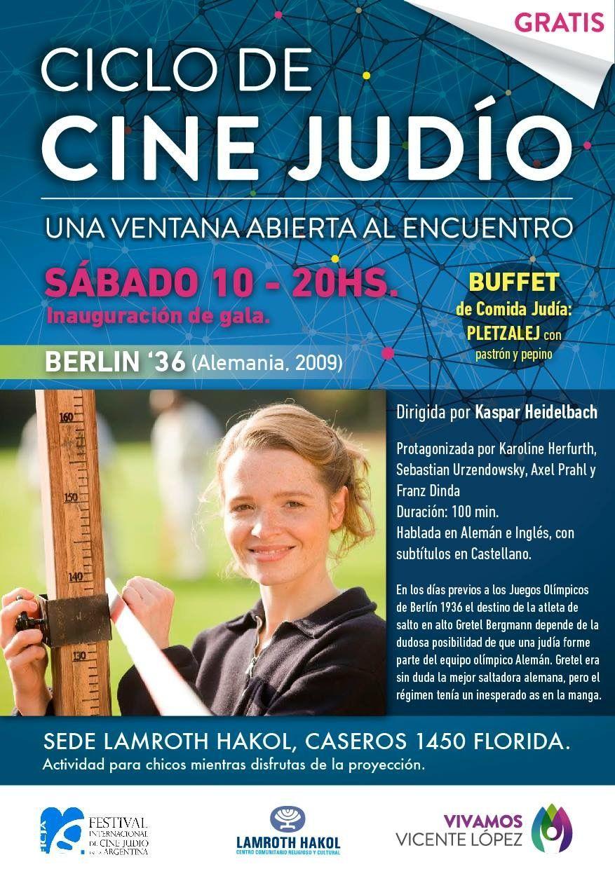 Semana de Cine Judío en Vicente López. Del 10 al 15 de Octubre. Caseros 1450 - Florida/Juan B. Alberdi 895 - Olivos.