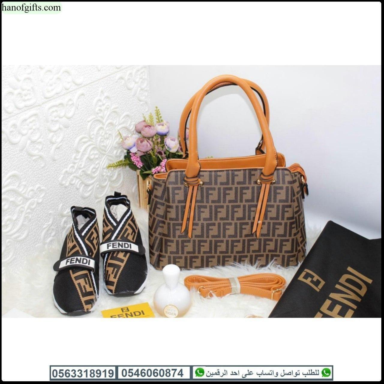 شنط فندي نسائيه Fendi مع شوز فندي و عطر شكل الماركه و كيس هدايا هنوف Louis Vuitton Speedy Bag Louis Vuitton Speedy Louis Vuitton