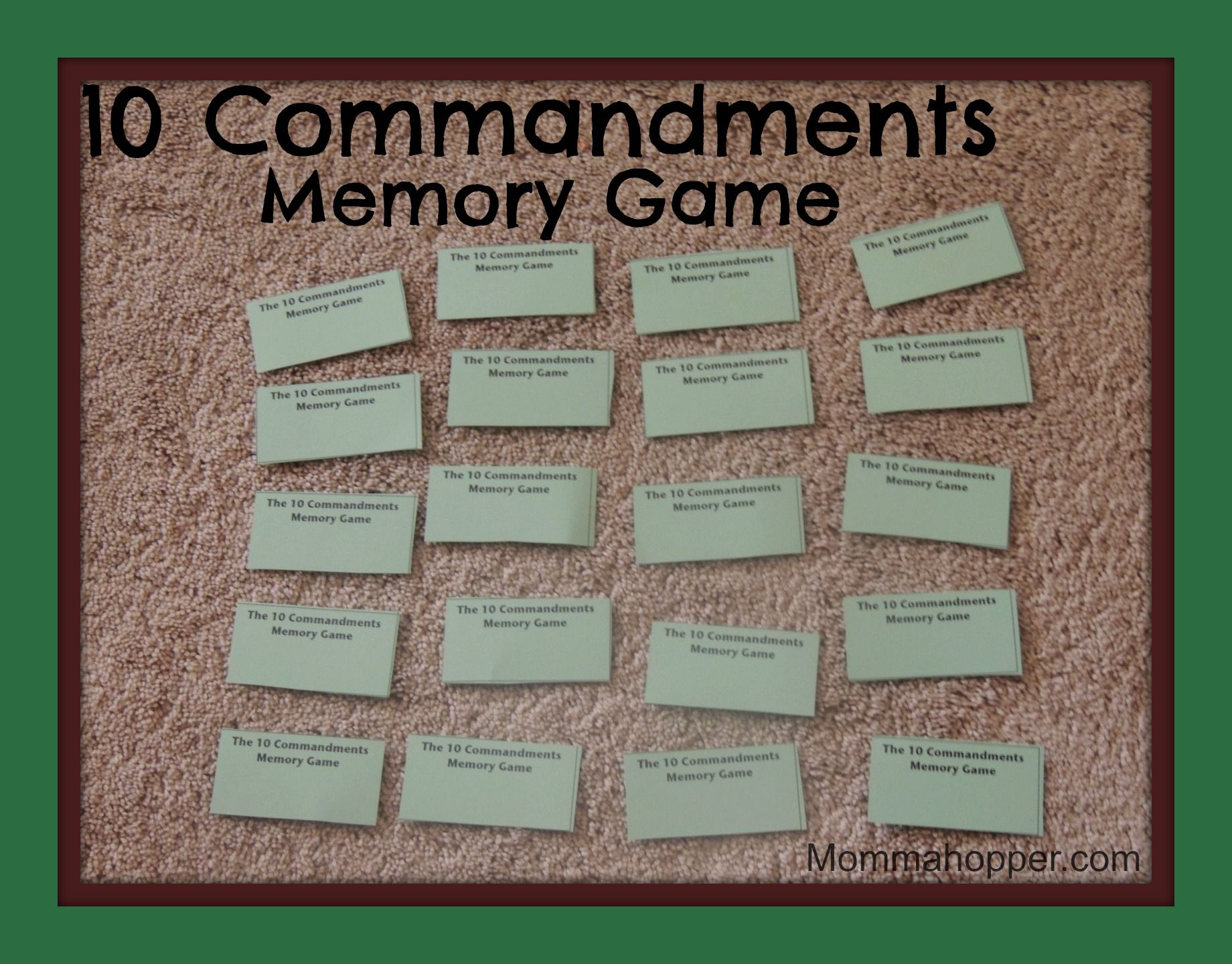 10 Commandments Memory Game