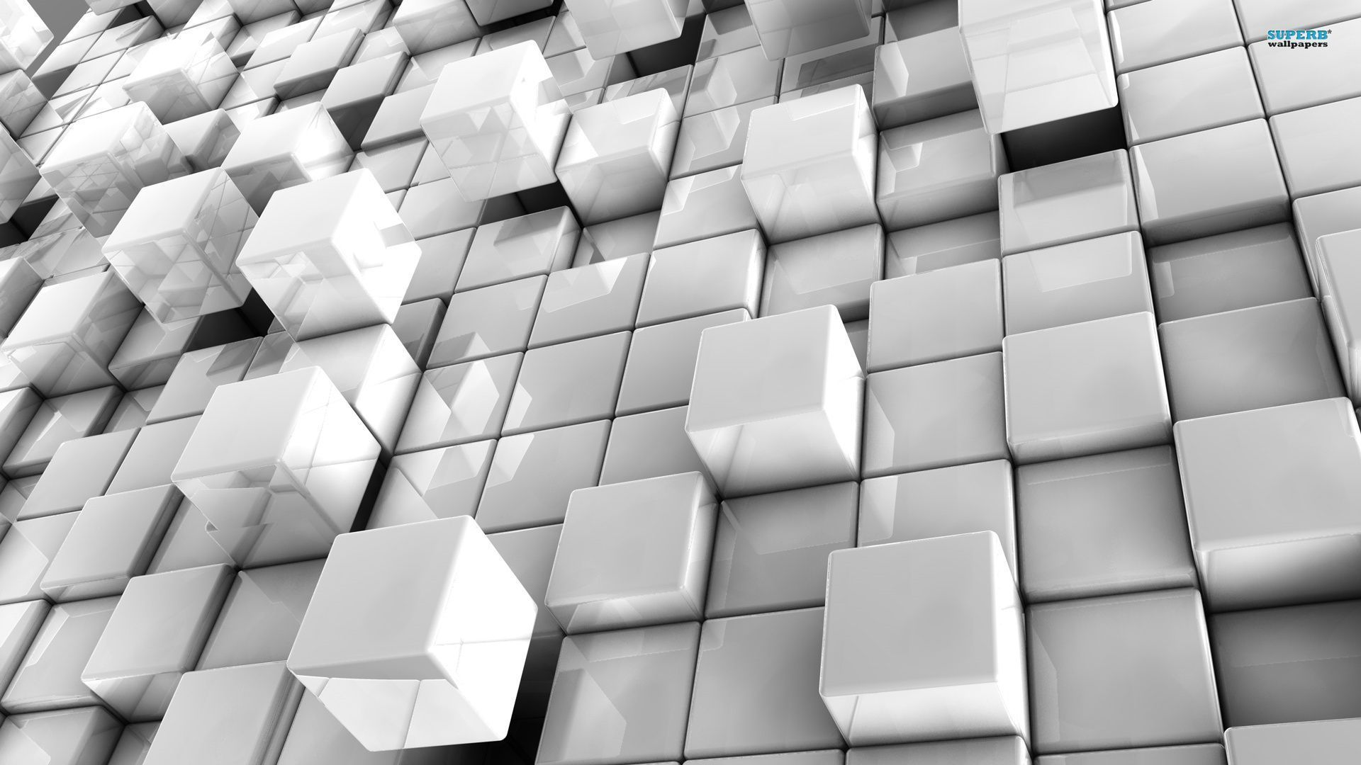 abstract in white cubes wallpaper mixhd wallpapers ilustrações