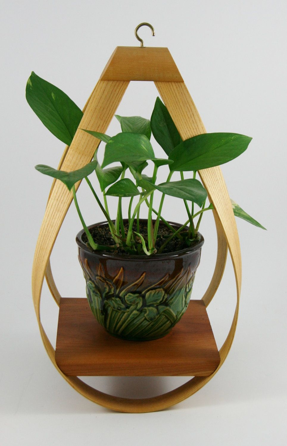 Danish Modern Bent Wood Hanging Planter