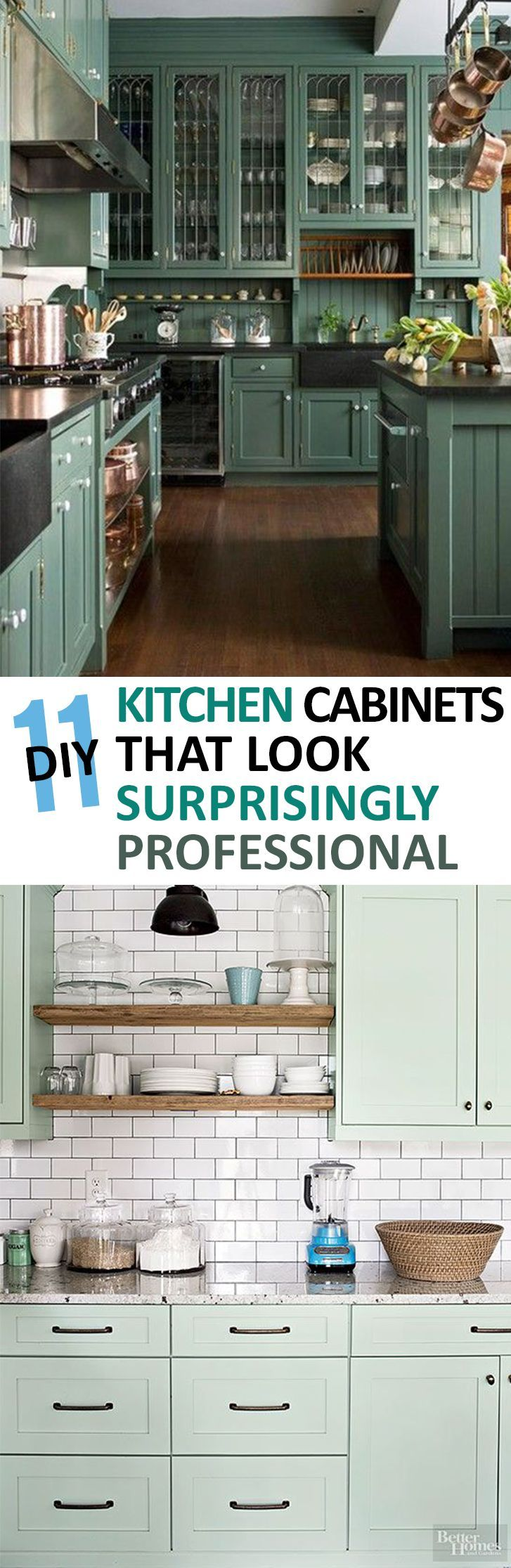 11 Painted Kitchen Cabinets That Look Surprisingly Professional Diy Kitchen Cabinets Home Remodeling Diy Kitchen Cabinets Decor
