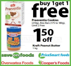 Owfg Canadian Coupons Save On Praeventia Cookies Kraft Pb Canadian Savers With Images Printable Coupons Canadian Coupons Kraft