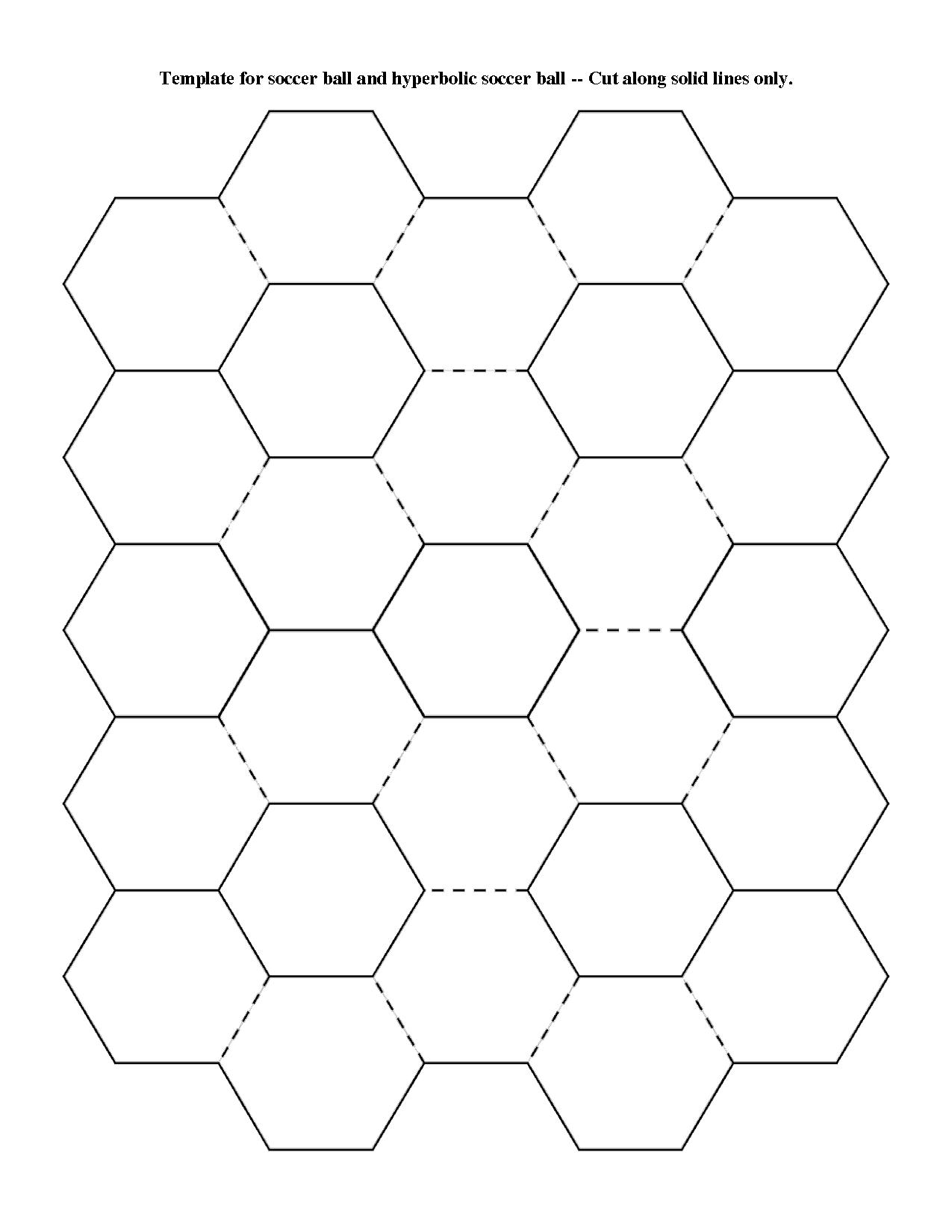 Soccer Ball Pattern Template For