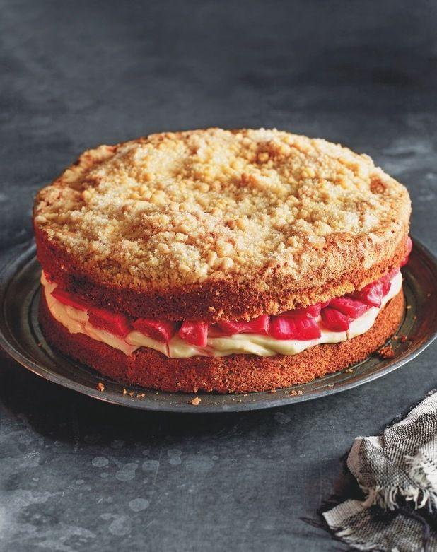 rhubarb crumble cake the clandestine cake club a year of cake