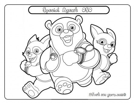 Free Printable disney junior special agent oso coloring pages. Free ...