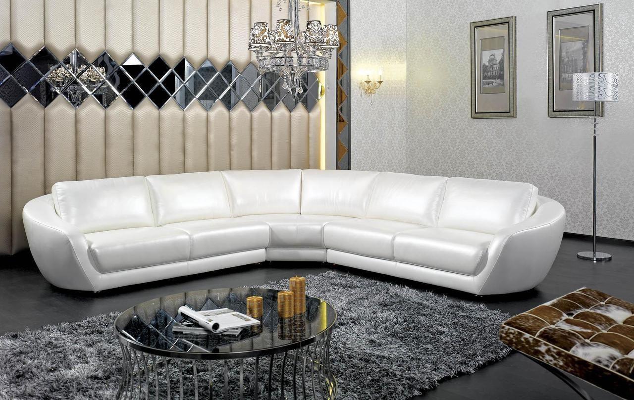 Stylish Design Furniture Divani Casa K8346 Modern Italian Pearl Leather Sectional Sofa 2 985 00 Http Italian Leather Sectional Sofa Modern Sofa Sectional