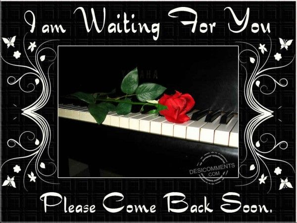 I Am Waiting For You Please Come Back Soon True Love Waits