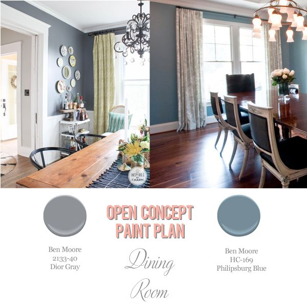 Foolproof Paint Selections for an Open Concept Floor Plan | Dining ...