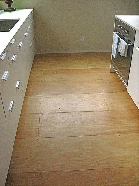Plywood Floor Good Idea For A Basement Or Laundry Room