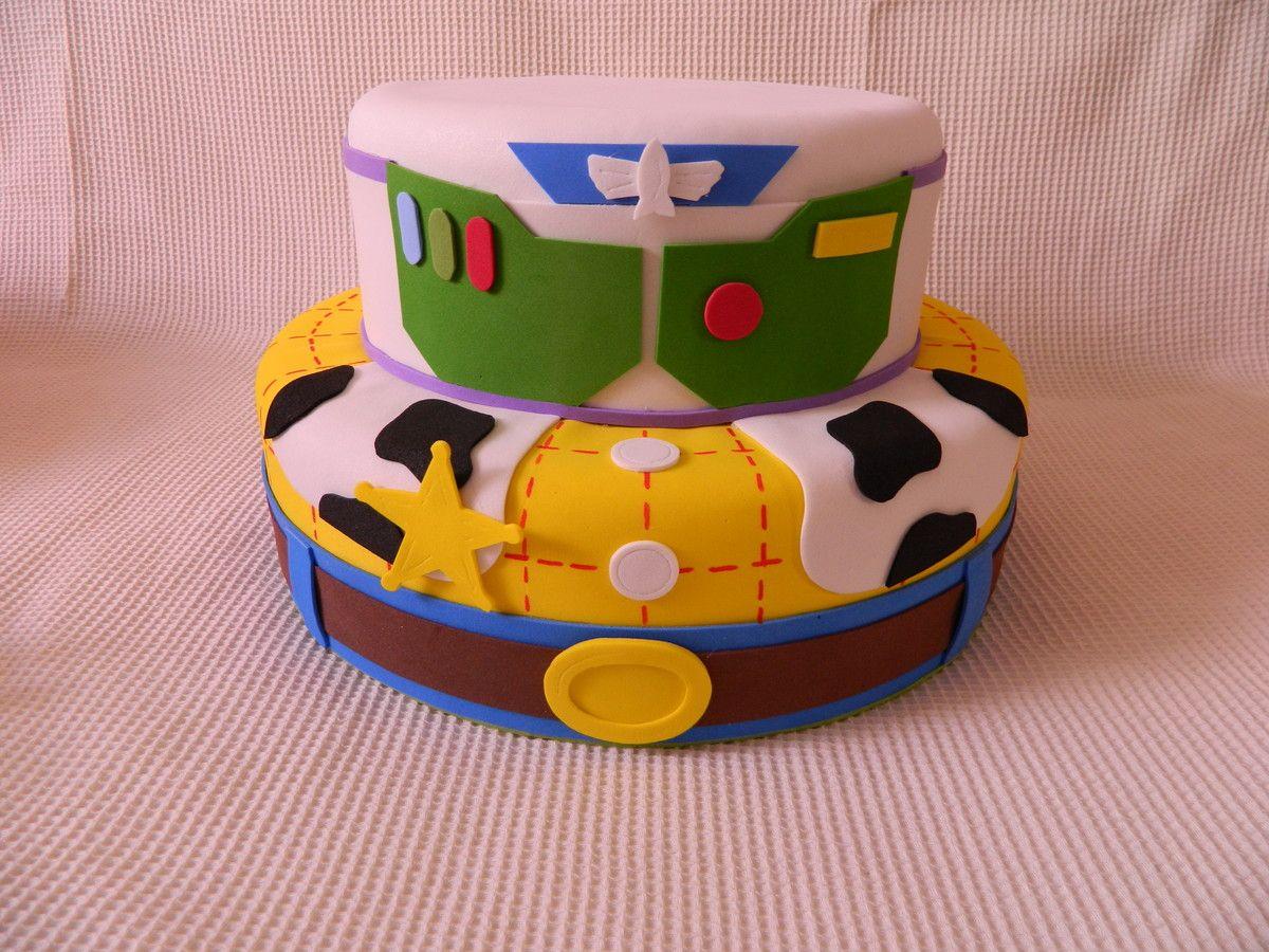Muito BOLO FAKE ISOPOR REVESTIDO EM EVA | Aniversário Toy Story  RQ47