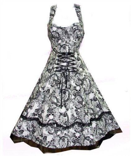 c2dddd237f Ladies 50's Vintage / Alternative Style Rockabilly Punk Gothic Skull Dress