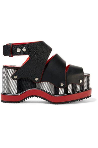 582b8f007dc Proenza Schouler - Woven Leather Platform Sandals - Black - IT40 ...