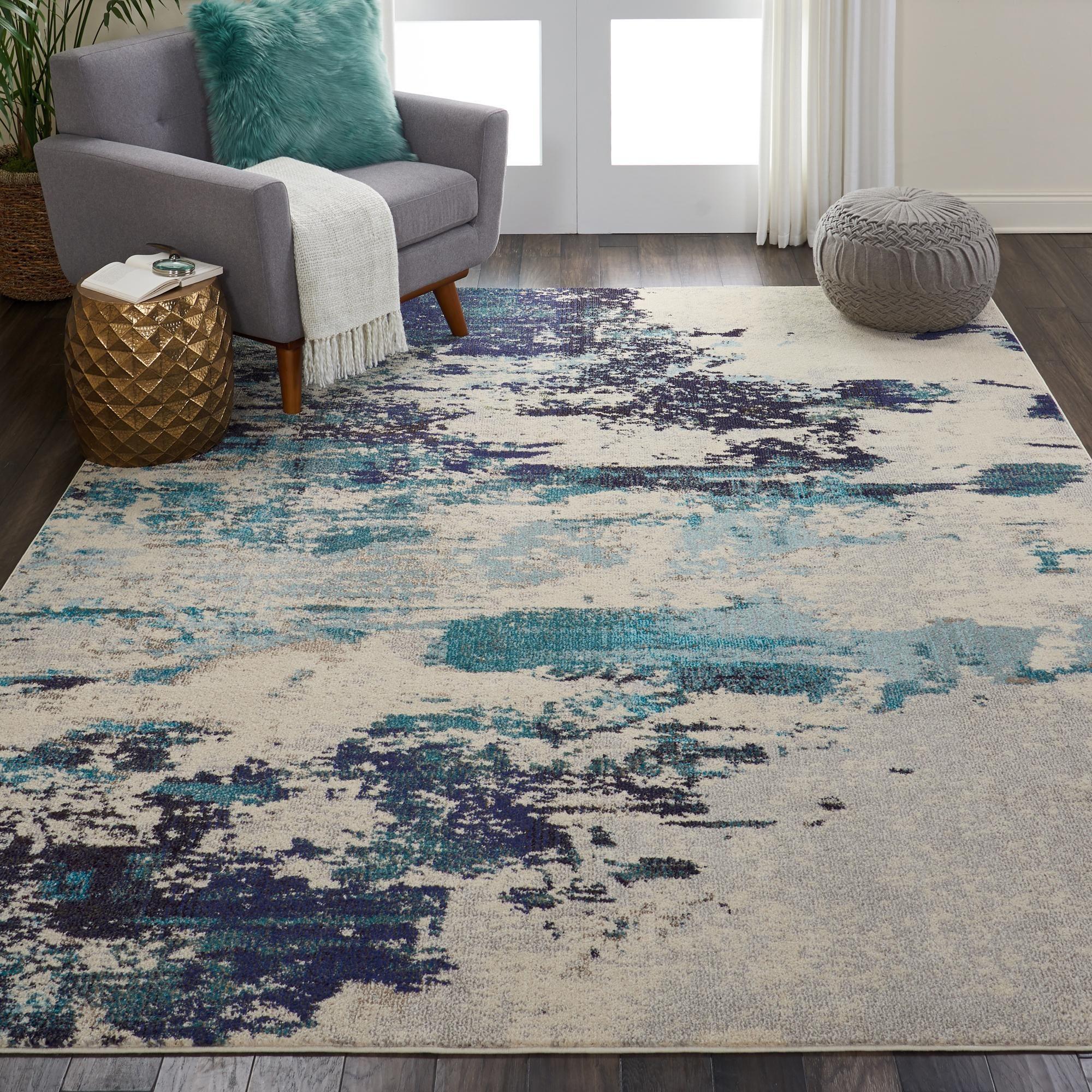 Teal Celestial Rug In 2020 Teal Living Rooms Rugs In Living