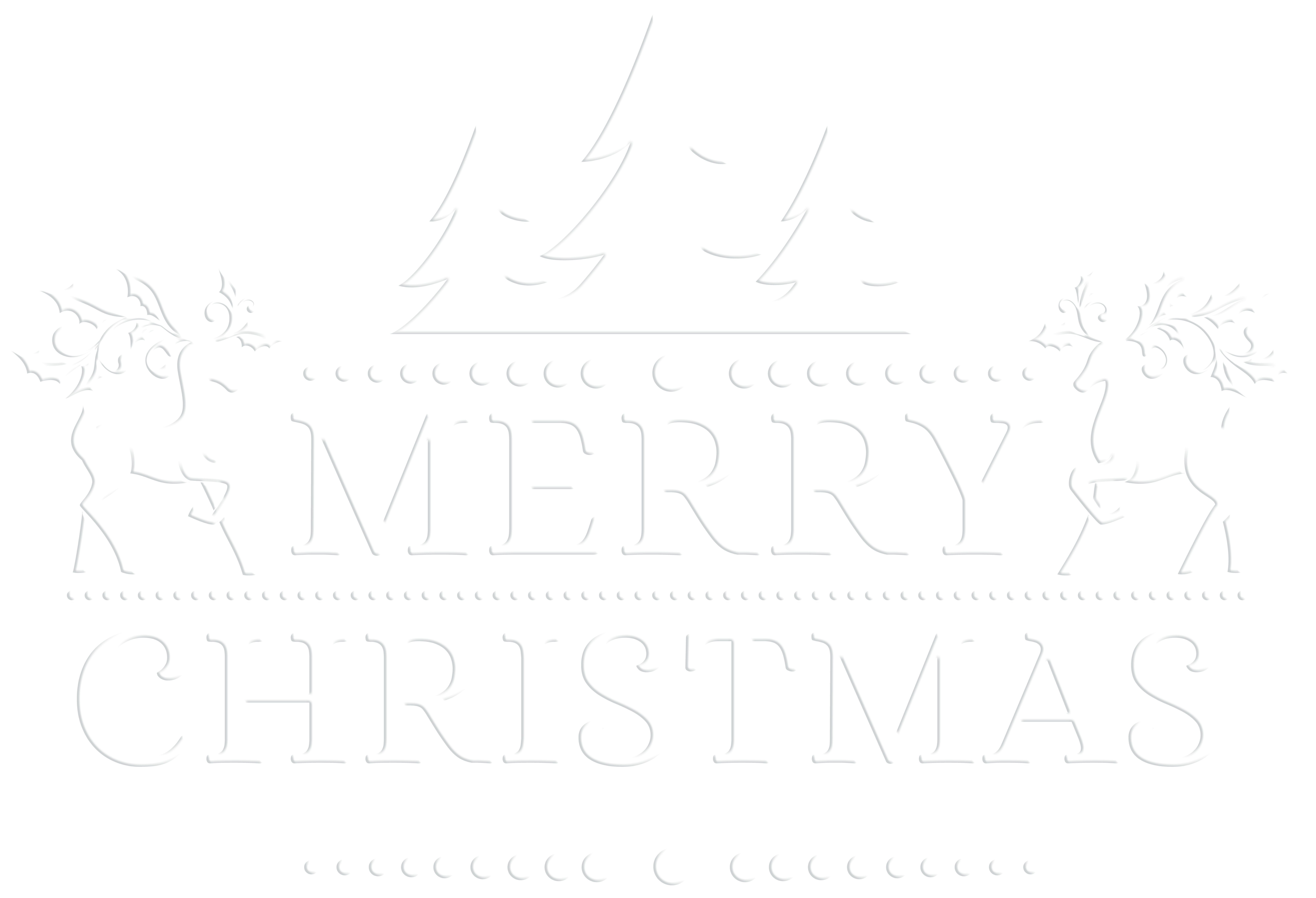 Merry Christmas White Transparent PNG Clip Art Clip art