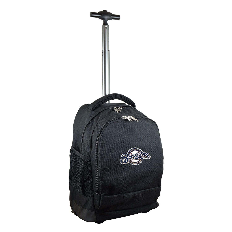 Denco Sports Mojo Milwaukee Brewers Premium Wheeled Backpack ... 03292d78f