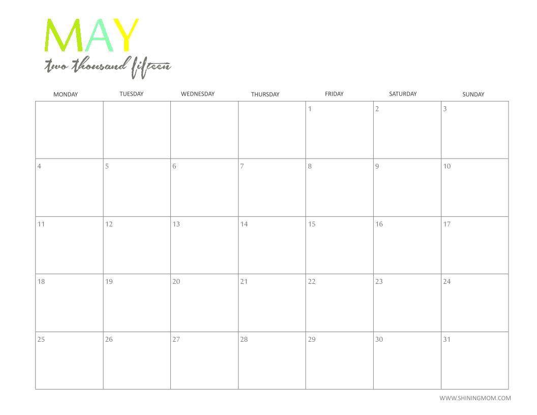 calendar free 2015