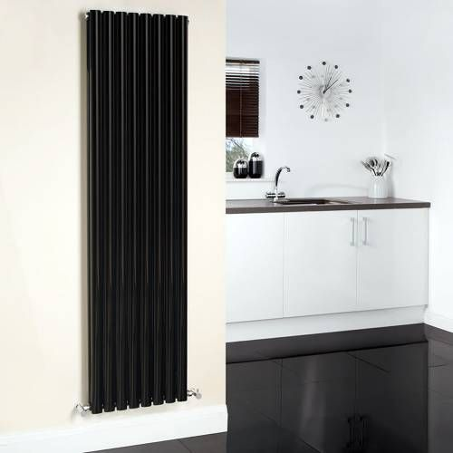 hudson reed design heizk rper 2 lagig vertikal schwarz 2311 watt 1780mm x 472mm revive design. Black Bedroom Furniture Sets. Home Design Ideas