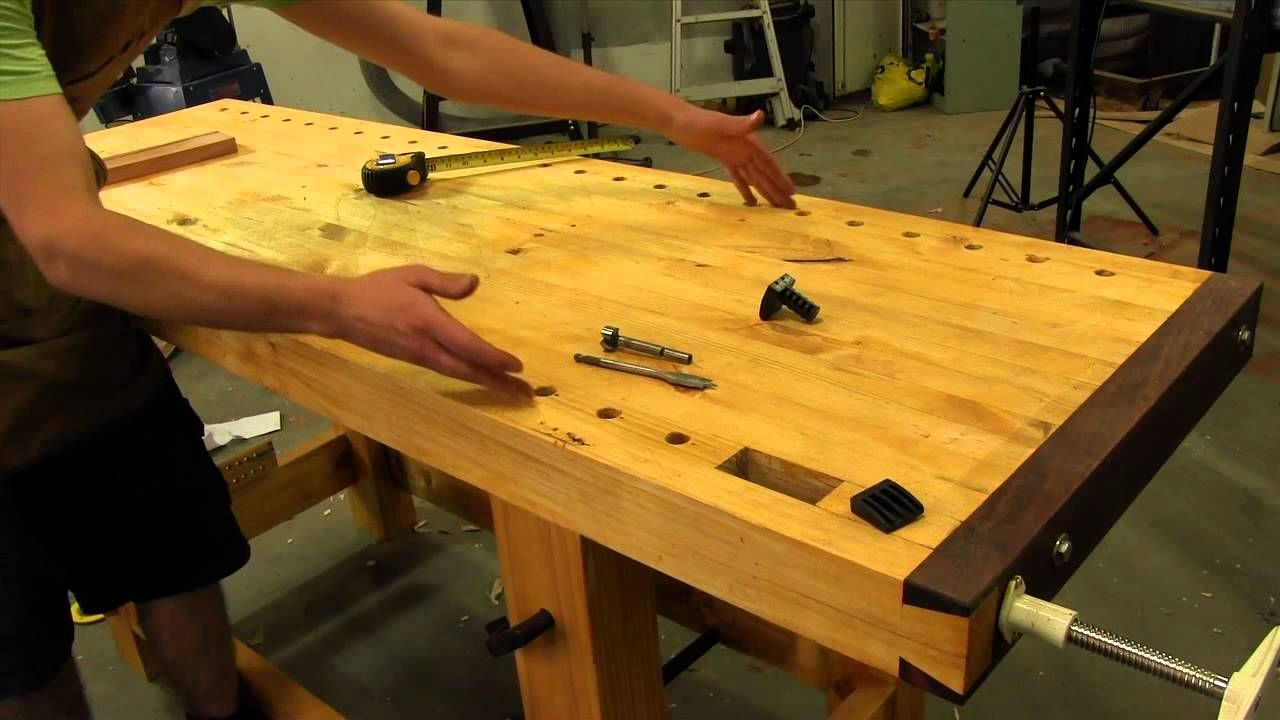Dog Hole Placement Jws Roubo Workbench Build Garage Work Bench