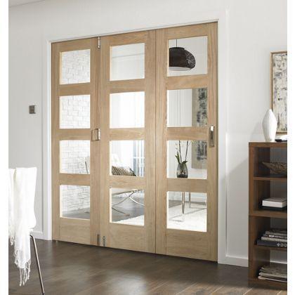 Room Glazed Fold Doorset - 1929mm Wide | Glaze, Room and Interior door