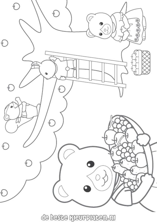 Calico Critters Coloring Page