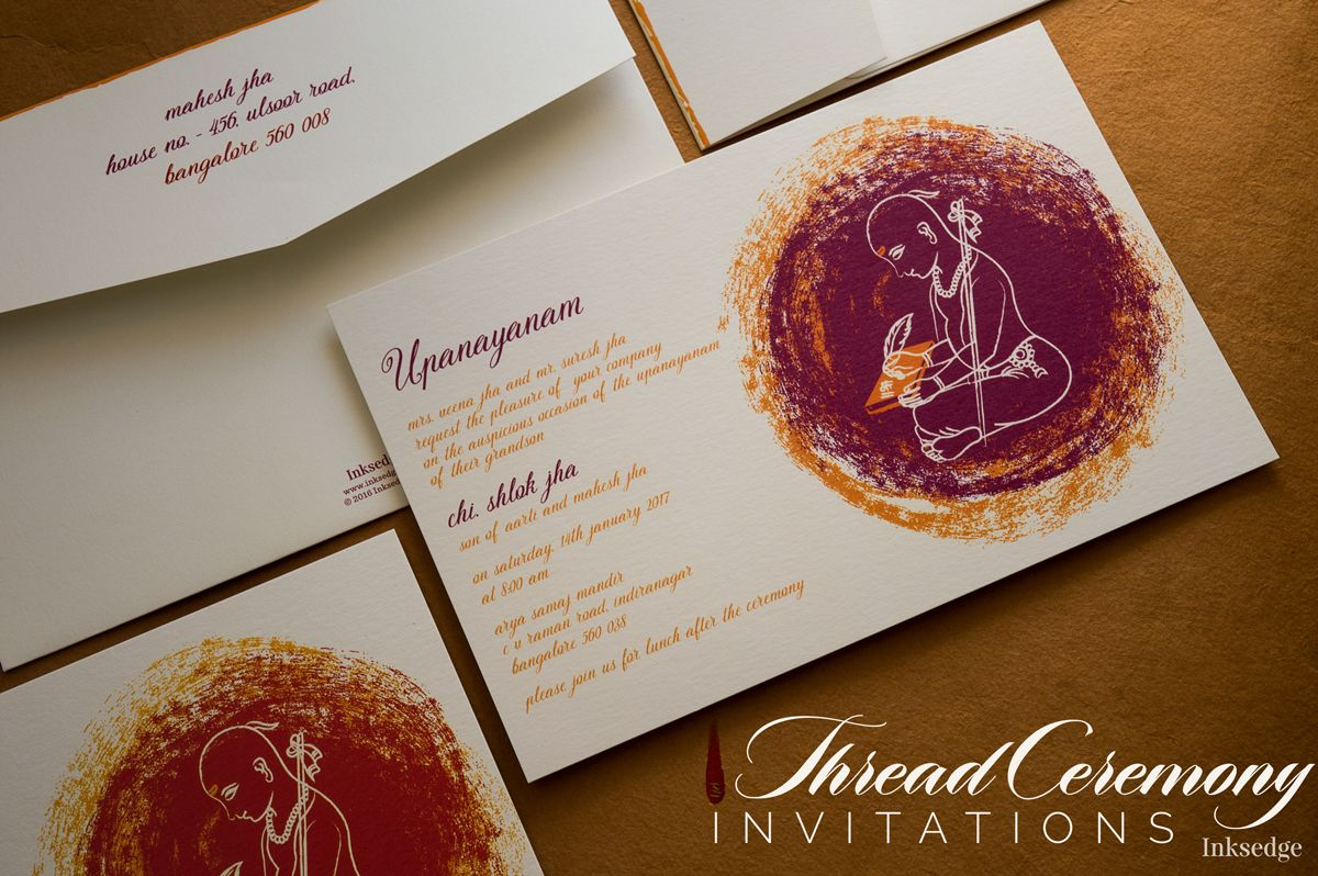 ThreadCeremony invitations Munj A modern touch to