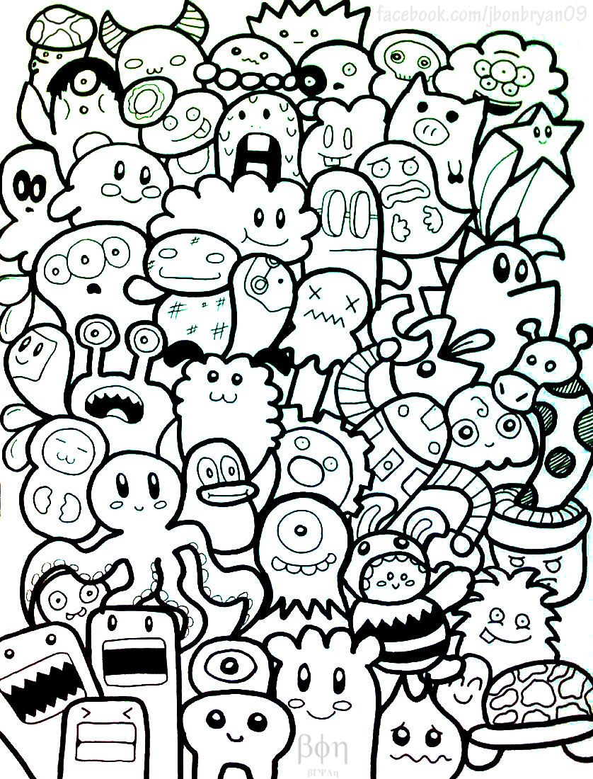 Cute Doodle Monsters By Bon09 On Deviantart Doodle Characters