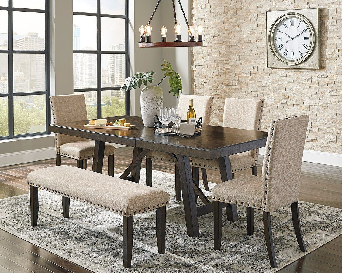 Rokane Dining Room Set W Bench Luxury Dining Room Dining Room