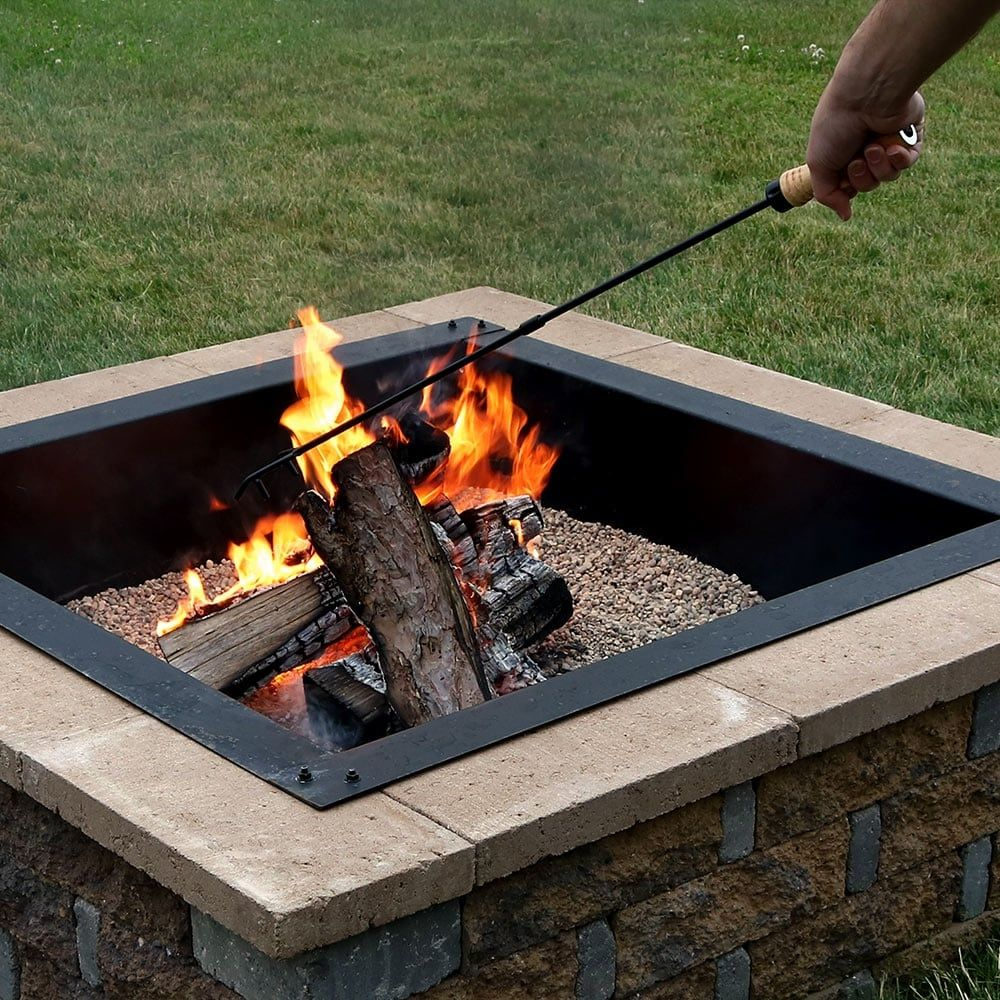 Sunnydaze Steel Camping Fireplace Fire Pit Poker with Wood