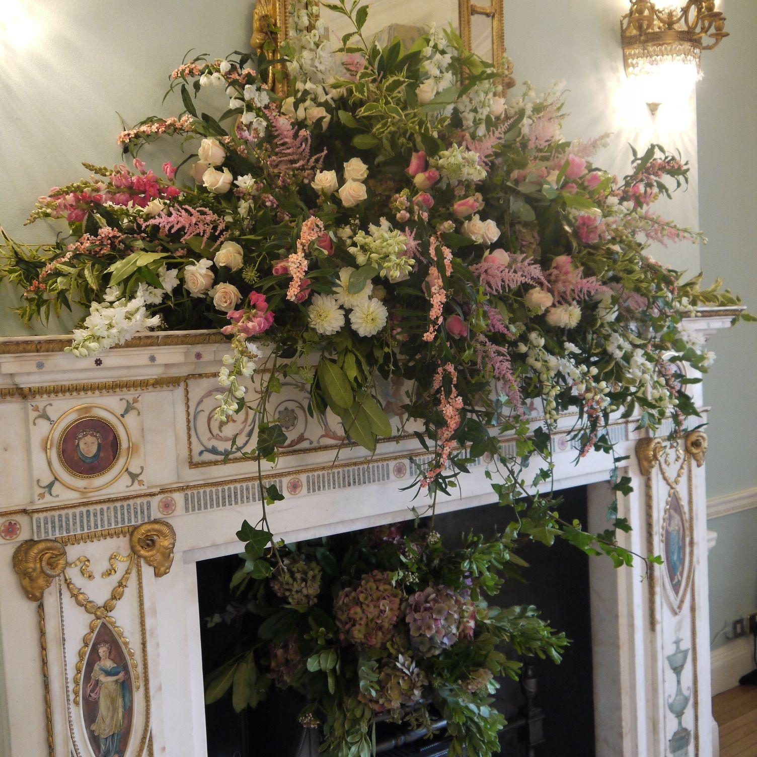 Centerpieces  Floral mantle design