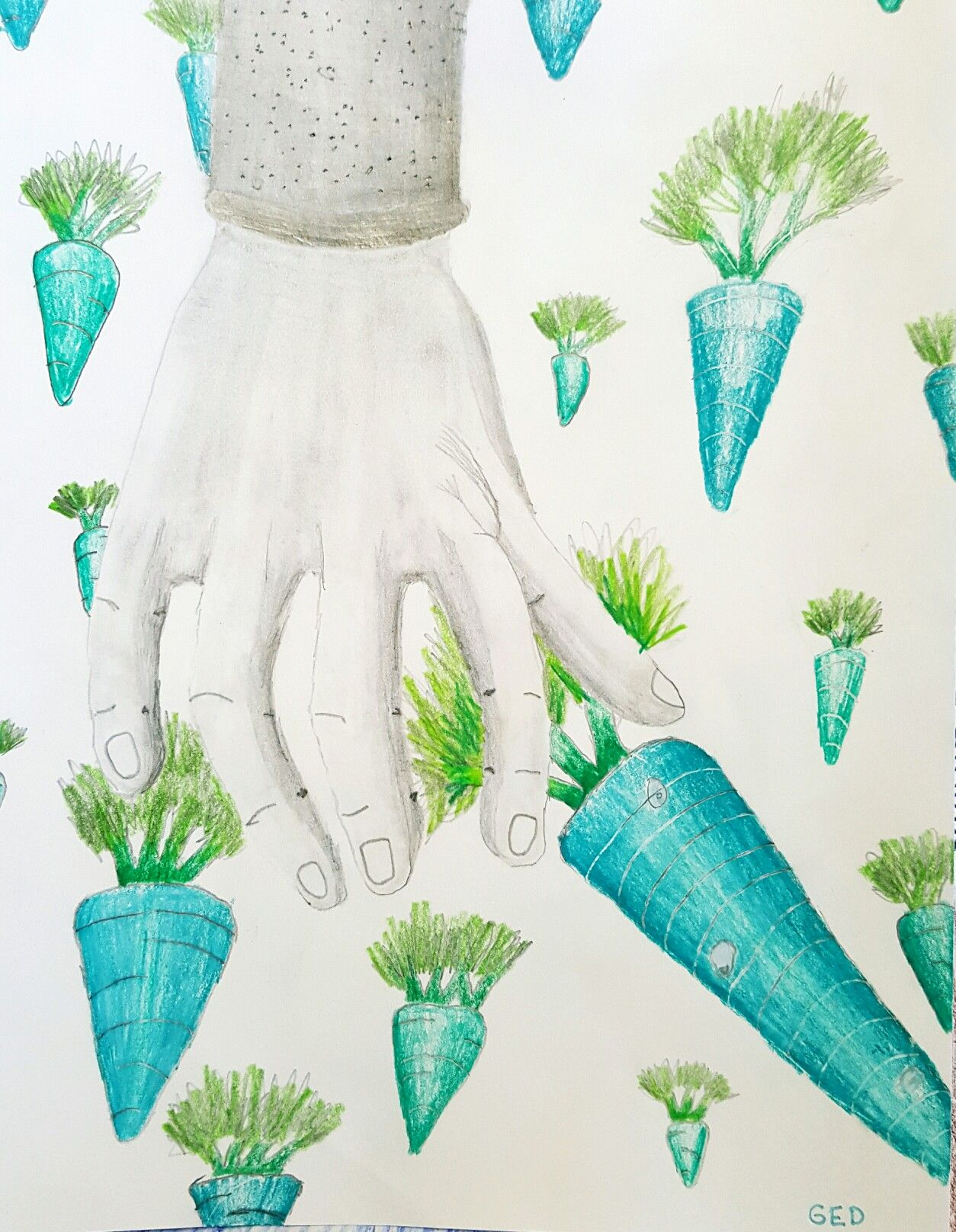 Surreal Handscape 8th Grade Lms Wooley