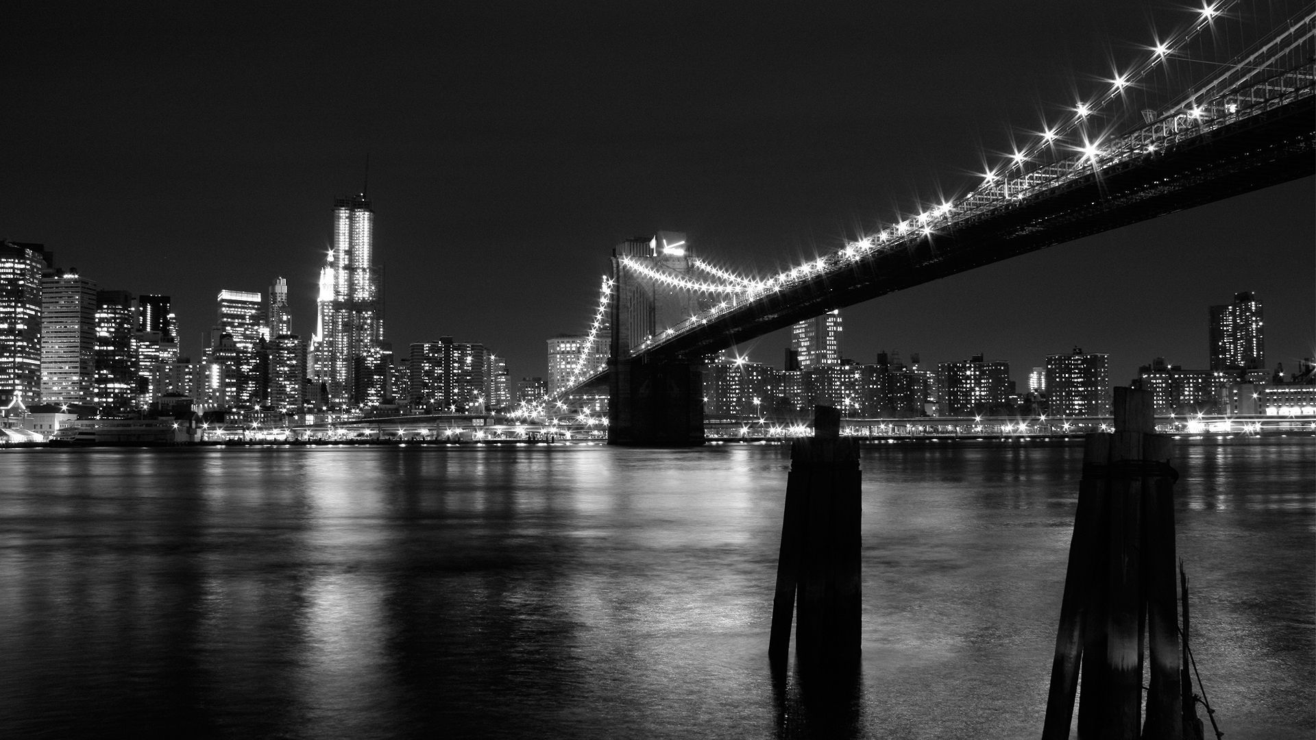 Brooklyn Bridge at night [1920x1080] wallpapers City