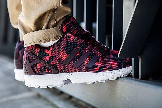 ADIDAS ZX FLUX BURGUNDY CAMO http://wp.me/p59jfm-8N #SneakerGazer