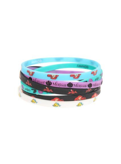 Amazon.com: Disney The Little Mermaid Character Rubber Bracelet 6 Pack: Jewelry