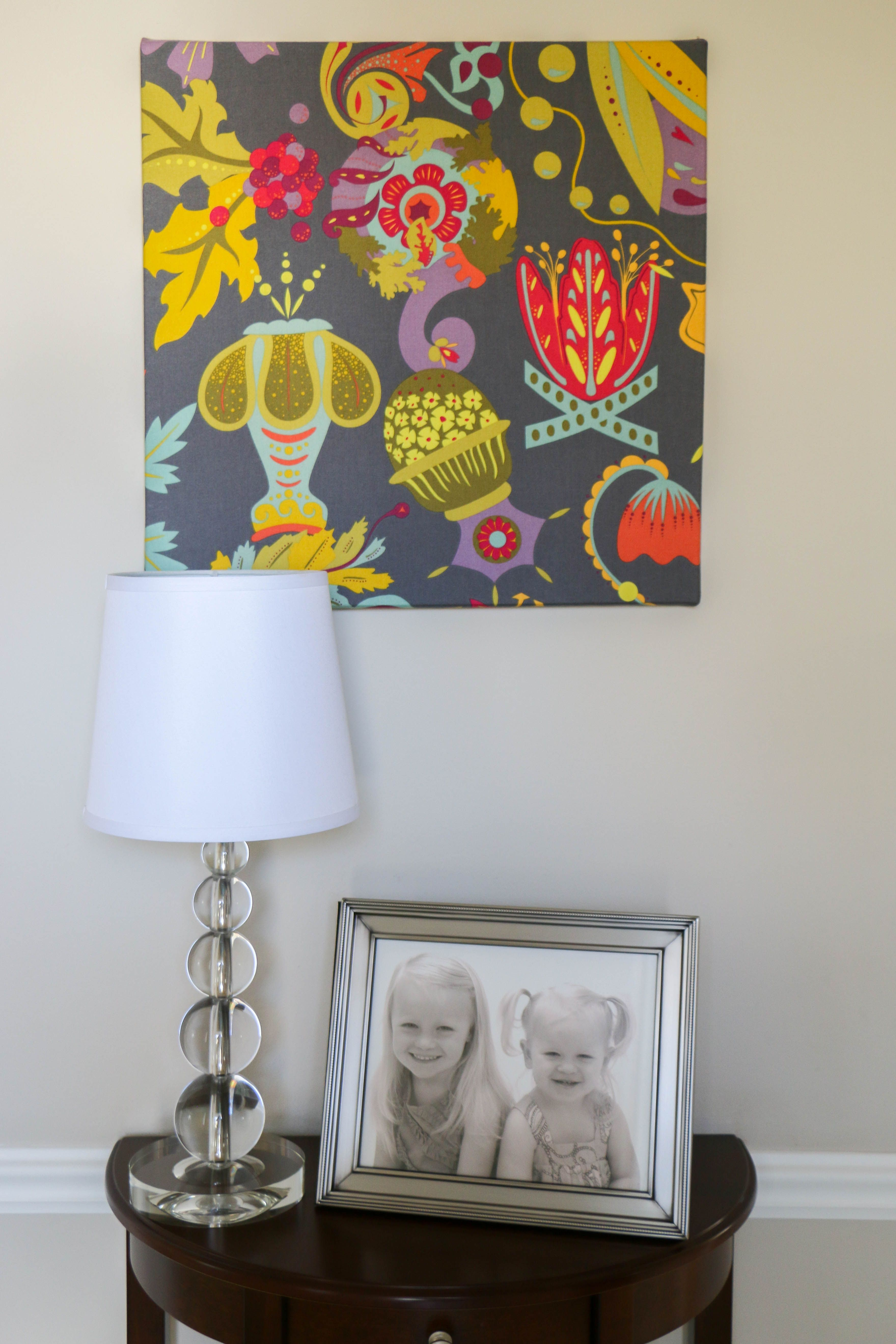 Diy alison glass print on fabric on stretched canvas