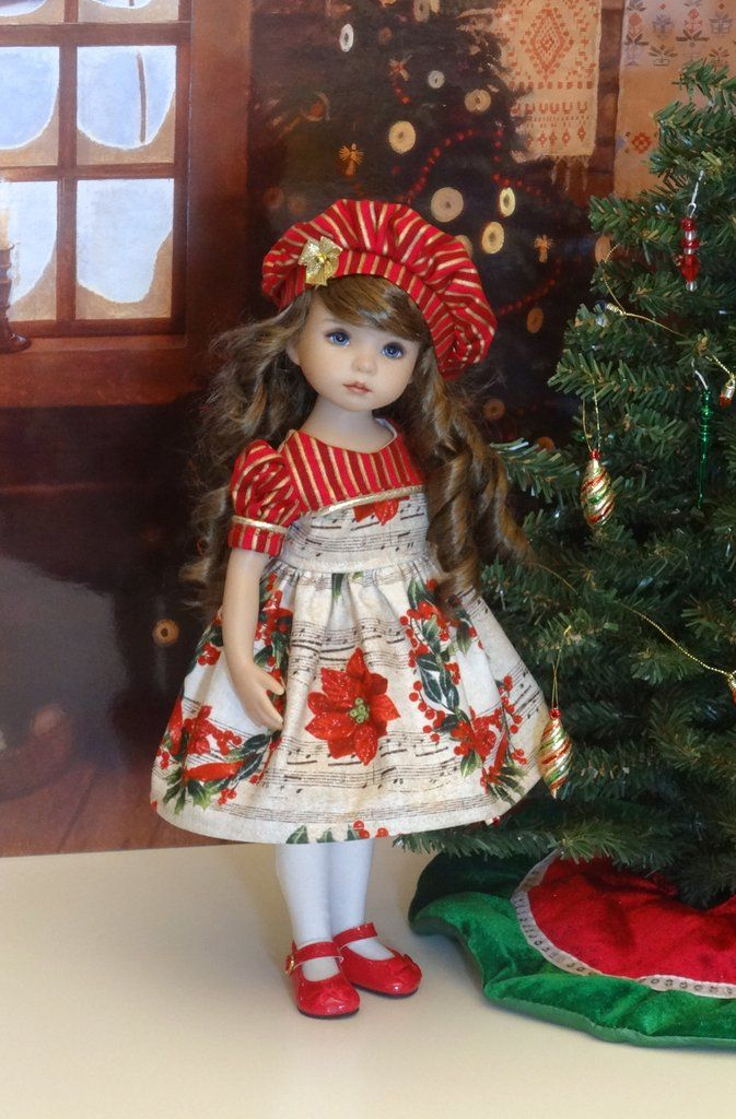 christmas song dress hat tights shoes for little darling doll - Red Shoes Christmas Song