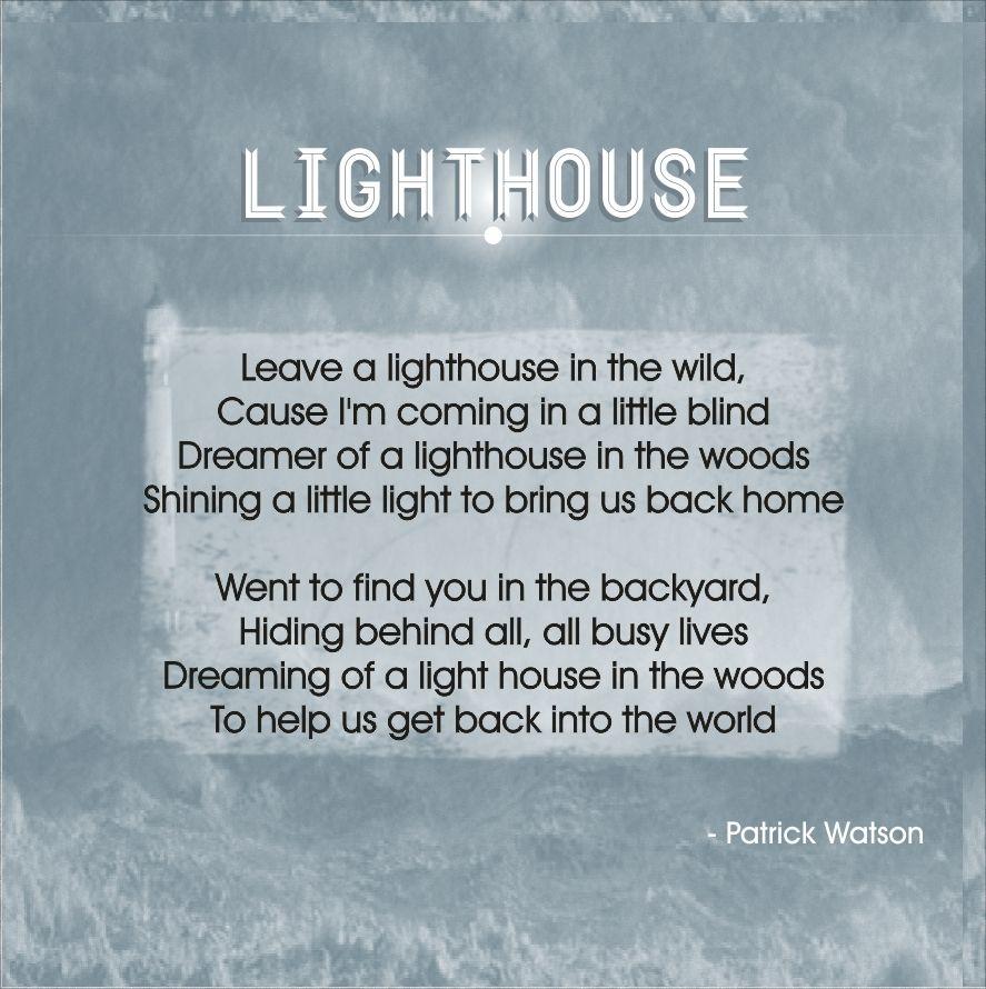 lighthouse patrick watson music pinterest lighthouse and