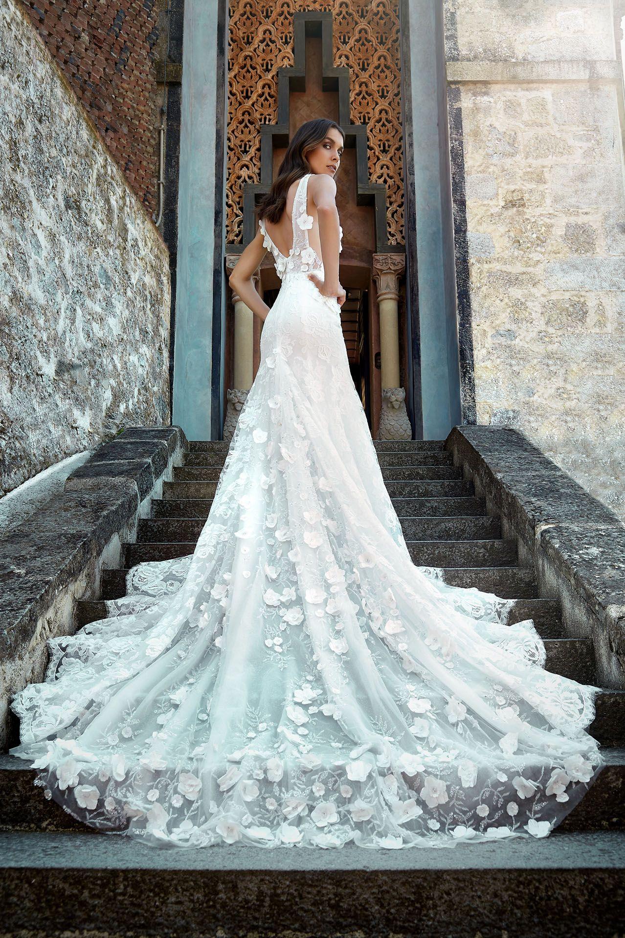 Vestiti Da Sposa Con Pizzo.Modello Lv 0118 Preziosissimo Abito Da Sposa Haute Couture Con