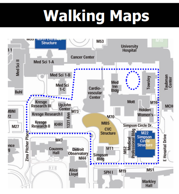 Find Walking Maps Of Different Areas Around The Umich Health