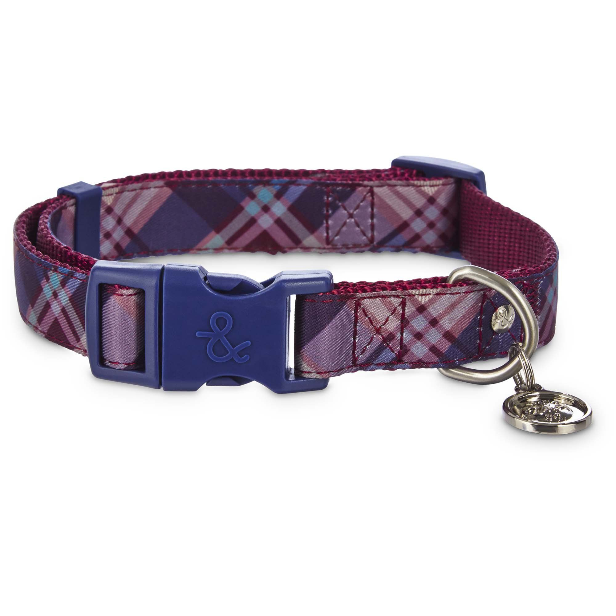 Bond Co Burgundy Plaid Adjustable Dog Collar Get Your Posh Pup Ready To Parade The Sidewalks In The Sophisticated Styles From Th Petco Burgundy Dog Collar