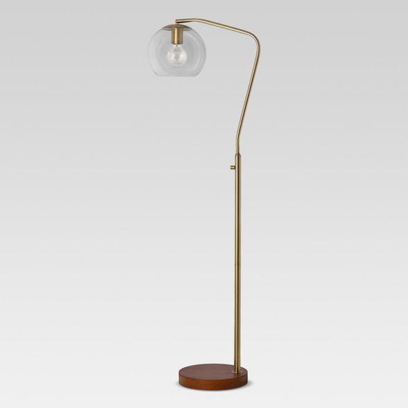 Madrot Glass Globe Floor Lamp Project 62 Globe Floor Lamp Floor Lamp Brass Floor Lamp