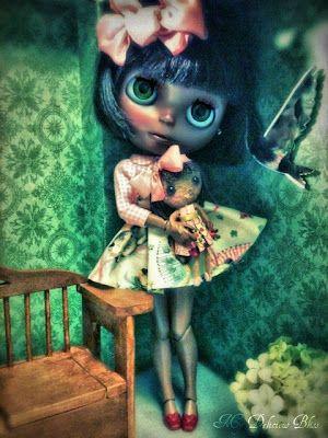 Evangeline with her Violetpie Mini