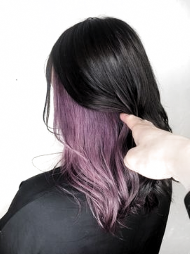 Inner Color Purple Pink Chell L031117645 Jeny Harajuku Hair Catalog Hot Pepper Beauty Beauty Cat Hair Styles Hair Dyed Underneath Hair Color Streaks