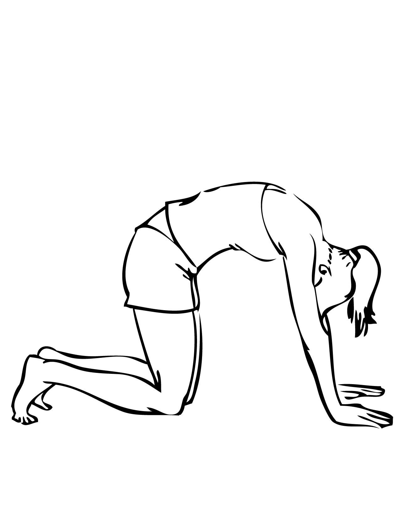 Cat Pose Yoga Coloring Book Coloring Pages For Kids Yoga For Kids [ 1650 x 1275 Pixel ]